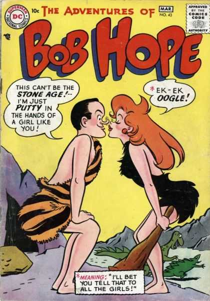 Adventures of Bob Hope 43 - March - Dc - 10 Cents - Speech Bubble - Redhead