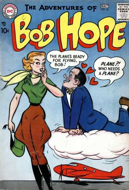 Adventures of Bob Hope 44 - Comics Code - Superman National Comics - Dc - Woman - Man