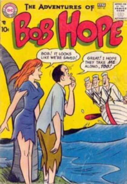 Adventures of Bob Hope 45 - Sailors - Boat - Dc Comics - Speech Bubble - Stranded People