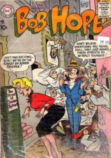 Adventures of Bob Hope 48 - Jan - White Robed Thieves - Street Of Seven Thieves - Blue Suit - Blond Girl