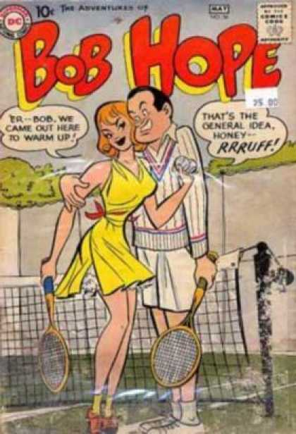 Adventures of Bob Hope 56 - Woman - Dc - 10 Cents - Tennis - May