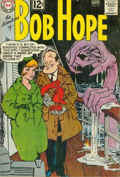 Adventures of Bob Hope 76 - Ocean Waves - Enormous Purple Claw - Boat Deck And Railing - Red Buzzard Idol - Lady In Green Coat