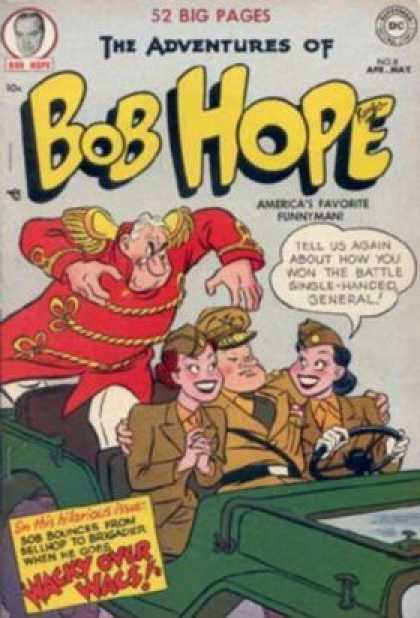 Adventures of Bob Hope 8 - Jeep - 52 Big Pages - Dc Comics - Wacky Over Wacs - General