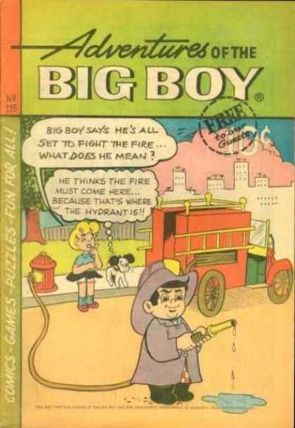 Adventures of the Big Boy 115 - Fire Truck - Fire Hose - Dog - Girl - City