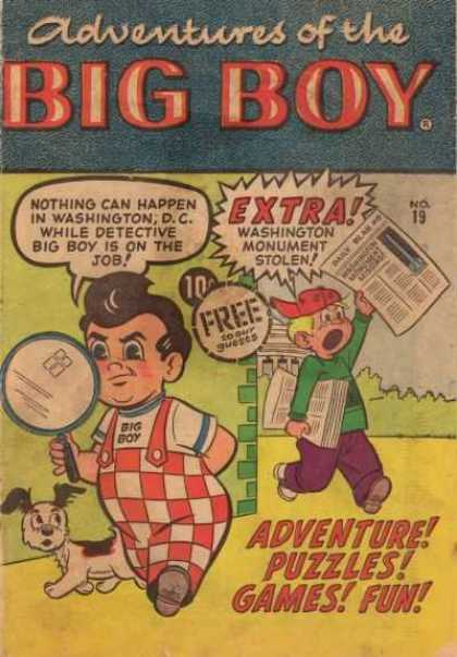 Adventures of the Big Boy 19 - Paper - Dog - Puzzles - Games - Fun