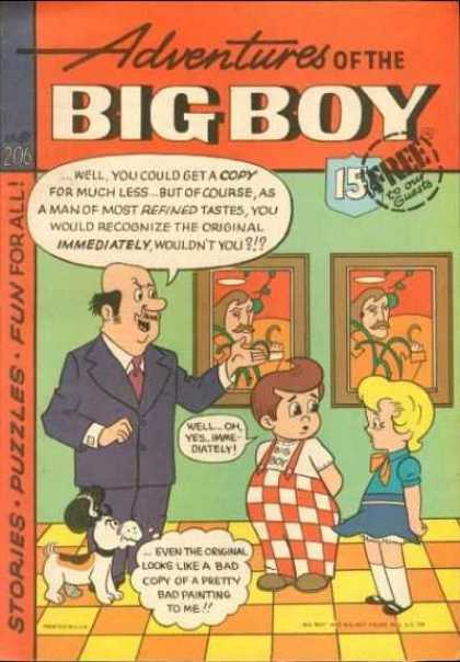 Adventures of the Big Boy 206 - Pictures - Bow - Checkered Overalls - Puzzles - Stories