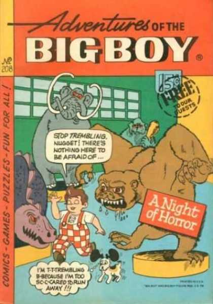 Adventures of the Big Boy 208 - Fat Little Boy - Overalls - Dog - Threatening Creatures - Display Platforms