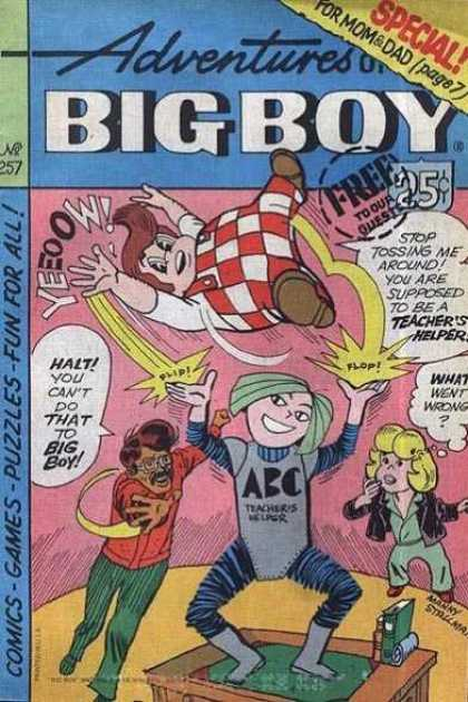 Adventures of the Big Boy 257 - Free To Our Guests - Special - Teachers Helper - Desk - Comics Games Puzzles
