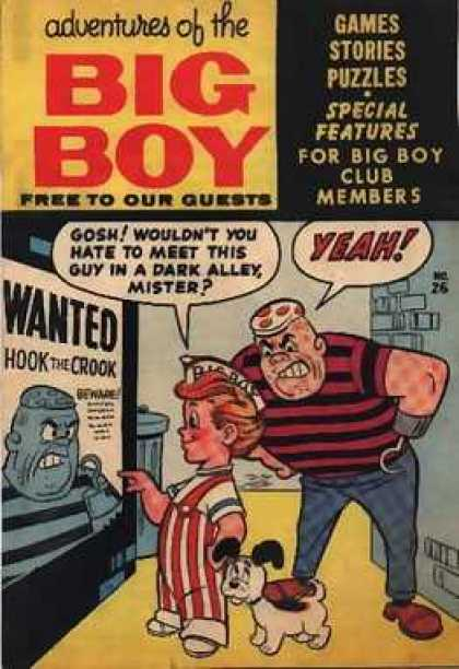 Adventures of the Big Boy 26 - Wanted Poster - Scared Dog - Big Boy - Big Scary Man - Hook