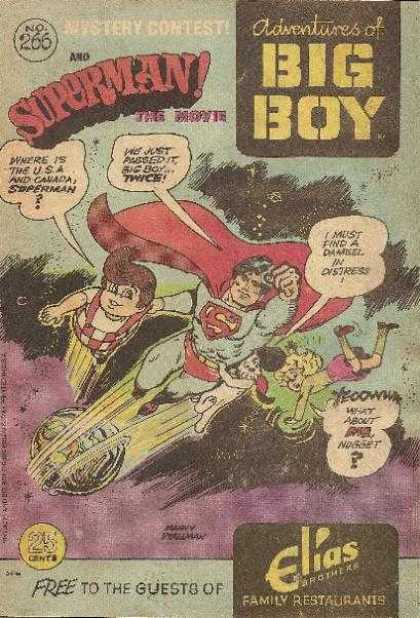 Adventures of the Big Boy 266 - Superman - Mystery Contest - Speech Bubbles - Superhero - Elias