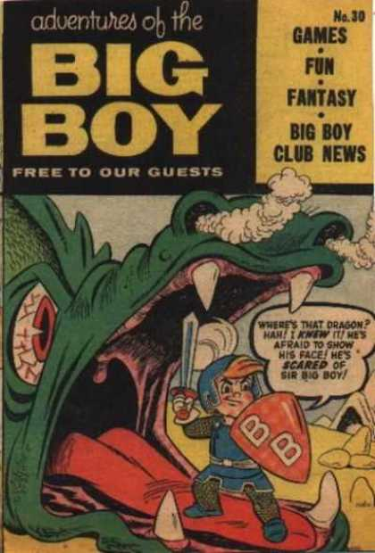 Adventures of the Big Boy 30 - Free To Our Guests - Dragon - Sword - Shield - Smoke