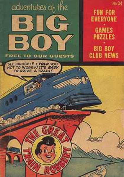 Adventures of the Big Boy 34 - Free - Fun - Games - Puzzles - Club News