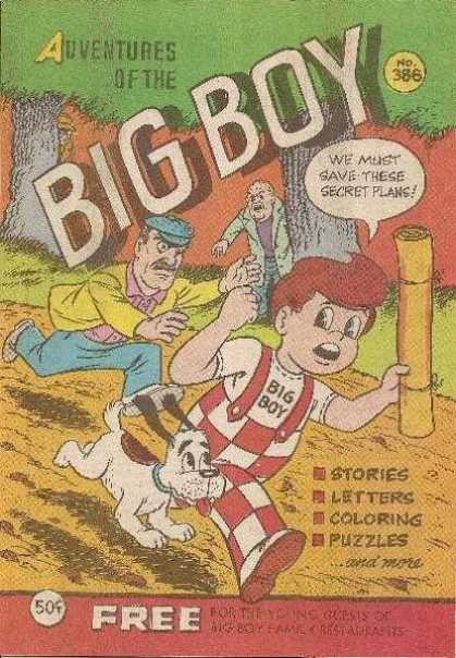 Adventures of the Big Boy 386 - Running - Big Boy - Trees - Dog - Overalls