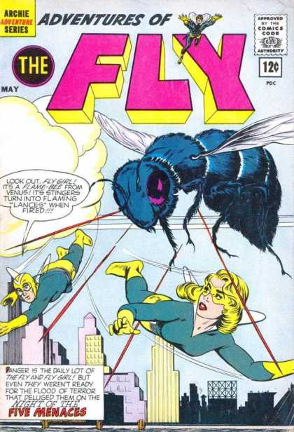 Adventures of the Fly 19 - Comics Code Authority - 12 Cents - Archie - Speech Bubble - May