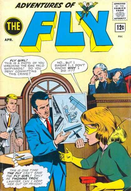 Adventures of the Fly 25 - Trial - Court - Judge - Gavel - Fly Girl