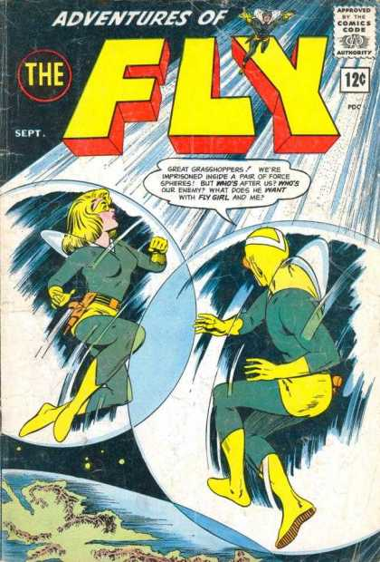 Adventures of the Fly 27 - Approved By The Comics Code Authority - Sept - Gun - Whos Our Enemy - Fly Girl