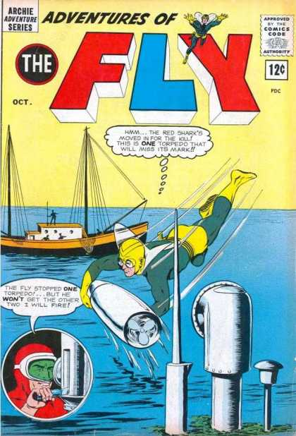 Adventures of the Fly 28 - Water - Boat - Periscope - Torpedo - Villian
