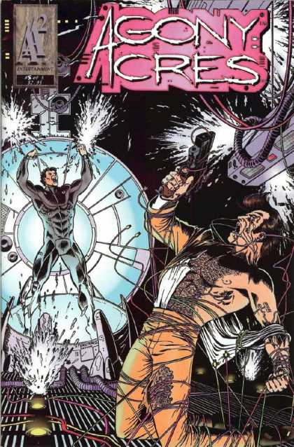 Agony Acres 5 - 2 Men Fighting - 1 Man Holding A Gun - Electricity All Around - Ay Entertainment - Man In Black Suit - George Perez