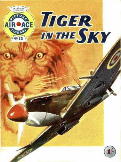 Air Ace Picture Library 12 - Tiger - Ace - Airplane - Fighter - World War Ii