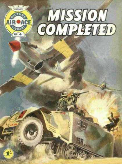 Air Ace Picture Library 4 - Tank - Airplane - Attack - Explosion - Battle