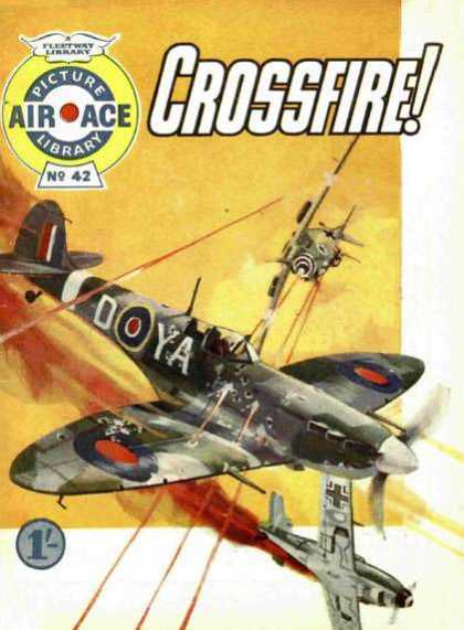 Air Ace Picture Library 42 - Crossfire - Plane - Flentway Library - Fire - Pilot