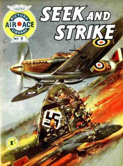 Air Ace Picture Library 7 - Fighter Aircraft - German - Spitfire - British - Swastika