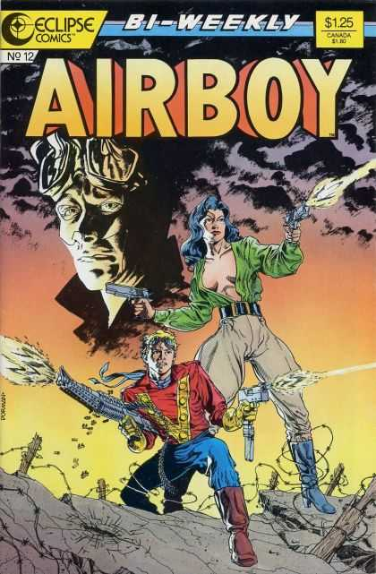 Airboy 12 - Eclipse Comics - Guns - Sexually Suggestive Art - Warzone - Barbed Wire - Dave Dorman