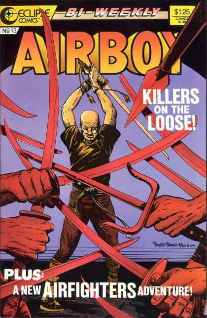 Airboy 13 - Killers - Bi-weekly - Eclipse - Airfighters - Adventure - Timothy Truman