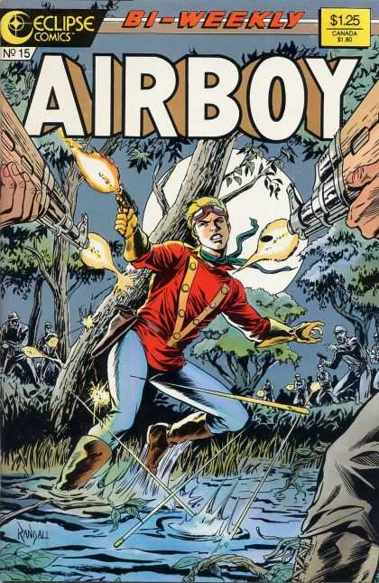 Airboy 15 - Swamp - Attack - Guns - Night - Moon