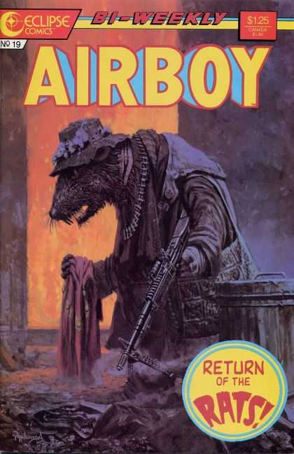Airboy 19 - Rat - Machine Gun - Trash Can - Hat - Return