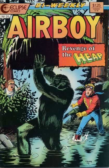 Airboy 25 - Swamp - Trees - Rock - Green Hairy Man - Overalls - Timothy Truman