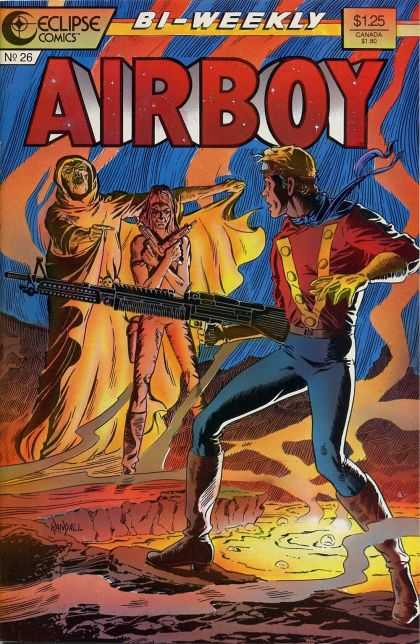 Airboy 26 - Eclipse Comics - Airboy - 26 - Cape - Guns