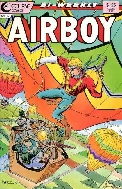 Airboy 32 - Hot Air Balloon - Gun - Goggle - Mask - Fields