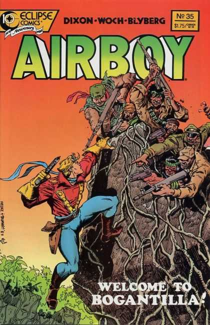 Airboy 35 - Galazy Wars - Good Vs Bad - Powerful - Never A Dull Moment - Reminds Me Of Wwe Wrestling - Timothy Truman