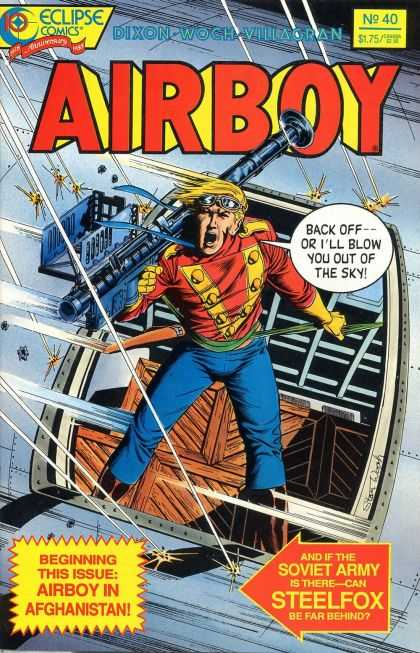 Airboy 40 - Eclipse Comics - Dixon - Woxh - Villagran - Blow You Out Of The Sky