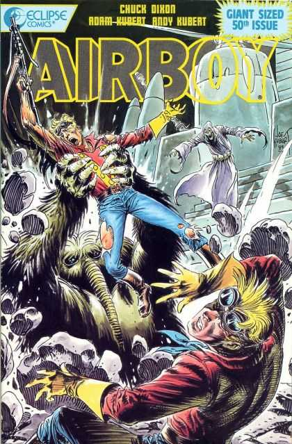 Airboy 50 - Eclipse - Chuck Dixon - Giant Sized 50th Issue - Man - Monster - Joe Kubert