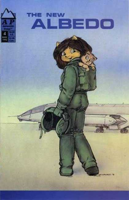 Albedo 4 - Kitty - Pilot - Plane - Blue Sky - Green Clothes - Stan Sakai