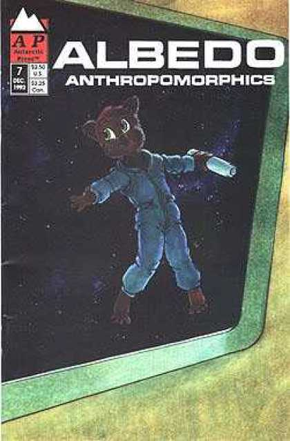 Albedo 7 - Anthropomorphics - Floating - Blue Spacesuit - Bear - Window