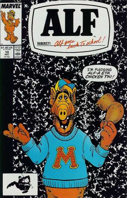 Alf 10 - Alf Goes Back To School - 10 Dec - Marvel - Greek - College