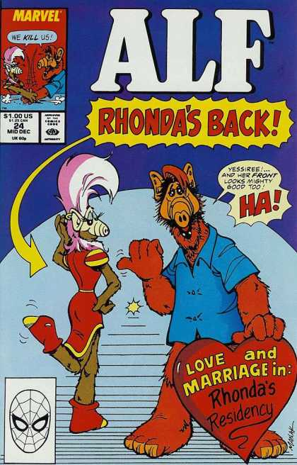 Alf 24 - Rhonda - Love And Marriage - Blue Shirt - Red Dress - Pink Hair