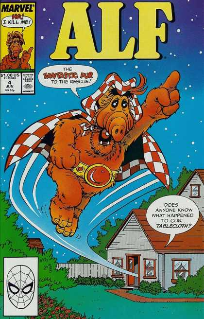 Alf 4 - Fantastic - Rescue - Tablecloth - Flying - House