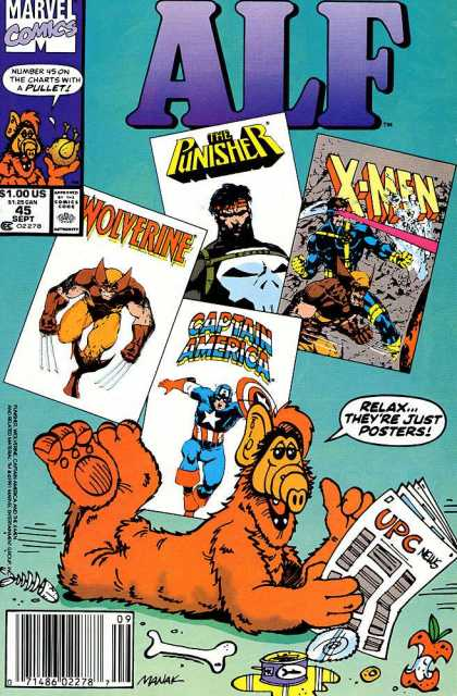 Alf 45 - The Punisher - Wolverine - X-men - Captain America - Posters