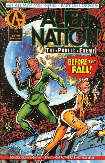 Alien Nation: The Public Enemy 1 - An All New Mini Series-part One Of Four - Adventure Comics - Before The Fall - Gun - Lowell Cunningham