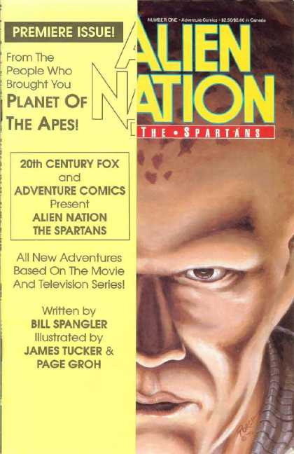 Alien Nation: The Spartans 1 - Premiere Issue - Planet Of The Apes - Bill Spangler - 20th Century Fox - James Tucker