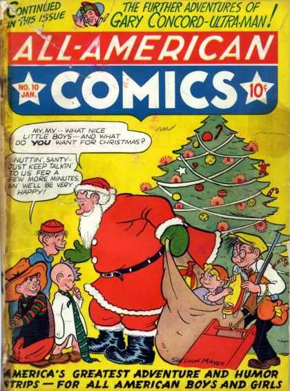 All-American Comics 10 - Santa Claus - Christmas Tree - Ultra-man - Gary Concord - Boys - Sheldon Mayer
