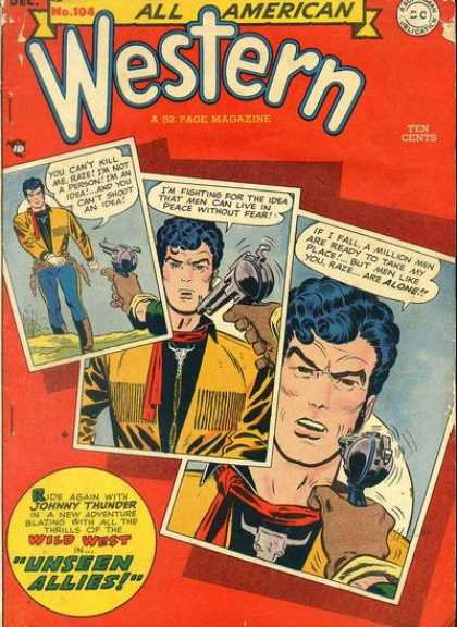All-American Comics - All American Western - Western - A 52 Page Magazine - Gun - Man - Unseen Allies
