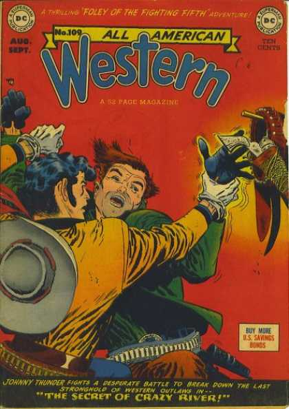 All-American Comics - All American Western - Western - Crazy River - Foley - Pistol - Fight
