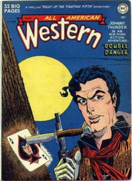 All-American Comics - All American Western - 52 Big Pages - Double Danger - Knife - Gun - Card