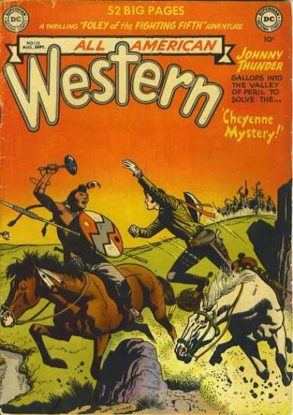 All-American Comics - All American Western - Horses - Cowboys - Indians - Western - Shield