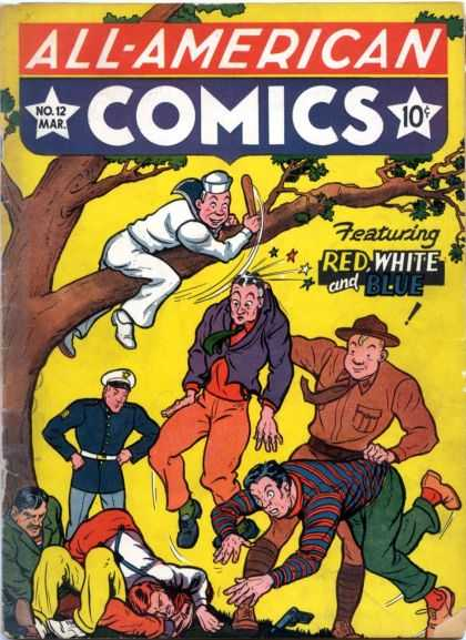 All-American Comics 12 - All- American - Comics - No 12 - Featuring - Red White And Blue